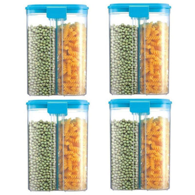 SOLOMON 2 SECTION CONTAINER 2500ML (BLUE) Pack of 4