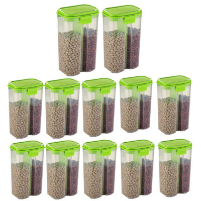 SOLOMON 2 SECTION CONTAINER 2500ML (GREEN) Pack of 12