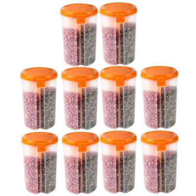 SOLOMON 3 SECTION CONTAINER (ORANGE) Pack of 10