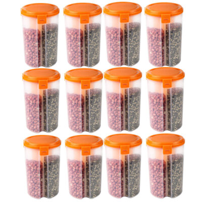 SOLOMON 3 SECTION CONTAINER (ORANGE) Pack of 12
