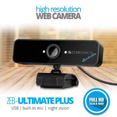 ZEBRONICS Zeb Ultimate Plus Webcam (Black)