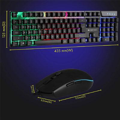 ZEBRONICS ZEB-WAR Gaming Accessory Kit (Black, For PC)