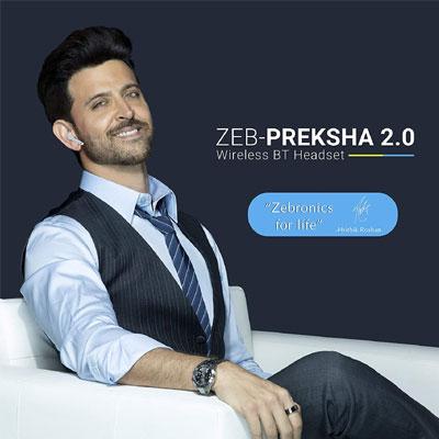ZEBRONICS PREKSHA 2.0 Bluetooth Headset (White, True Wireless)