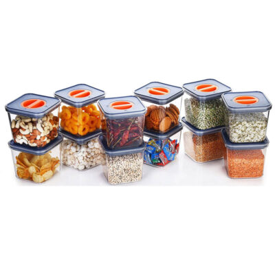 Solomon Lock & Seal Container 1000ml Pack of 12(Grey)