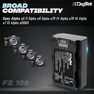 Digitek NP FZ100 Lithium-ion Sony Alpha A9