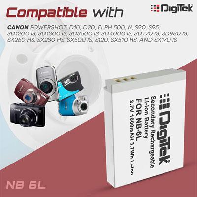 Digitek NB-6L Camera Battery