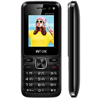 Intex Eco Selfie Black Mobile (Open box)