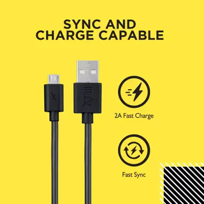 Flix Micro USB Cable XCD-M101 PACK OF 2