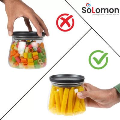 Solomon 800ML FLOWER MATUKI Shape CONATAINER BLACK