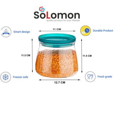 Solomon 800ML FLOWER MATUKI Shape CONATAINER BLUE