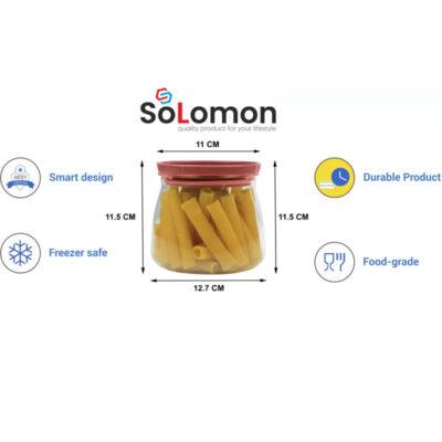 Solomon 800ML FLOWER MATUKI Shape CONATAINER RED