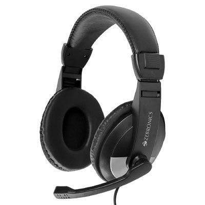 ZEBRONICS Zeb-200HM Wired in Ear Headphone with Mic (Black)