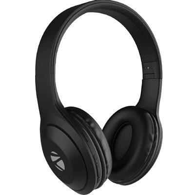 ZEBRONICS ZEB DUKE 101 Wireless Headphone with Mic Bluetooth Headset (Black, On the Ear)