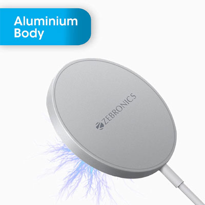 ZEBRONICS Zeb-MAGSECURE Charging Pad SILVER